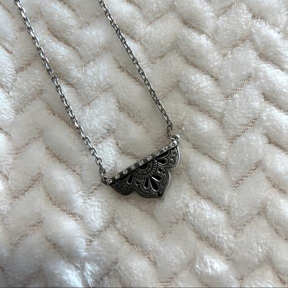 NWOT Brighton Mandala Diamond Silver Necklace